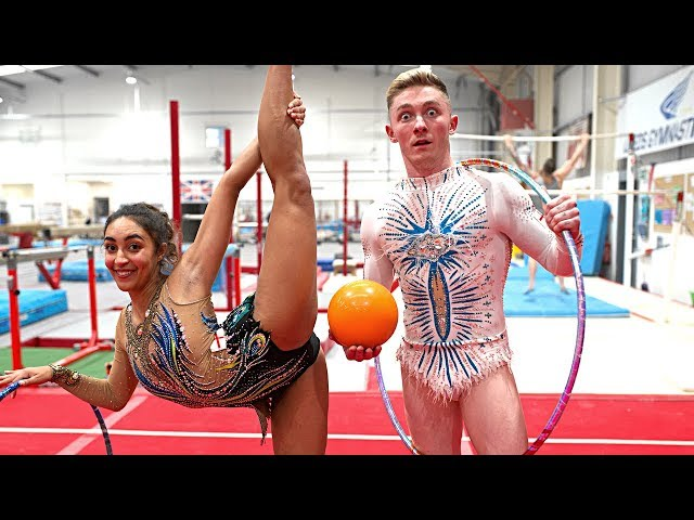 I'M A 'RHYTHMIC GYMNAST' NOW!?.. Nile Wilson | Head to Head Challenge