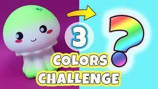3 COLOR SQUISHY MAKEOVER CHALLENGE! Collab with CHELSEY DIY! *Redecorating Squishy - only 3 colors*