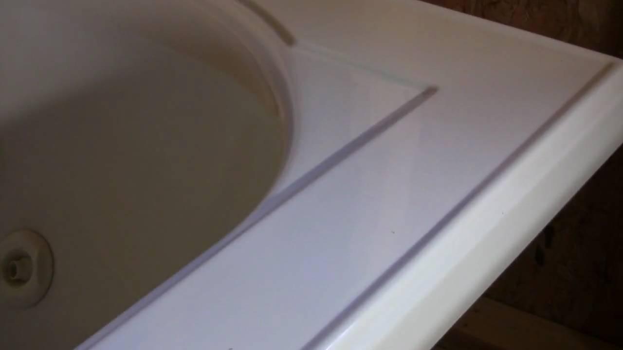 SPR Fiberglass Bathtub Repairs - YouTube