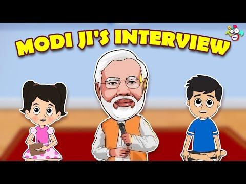 Modi Ji's Interview | Happy Birthday Modi Ji | Animated Stories | English Cartoon | Moral Stories
