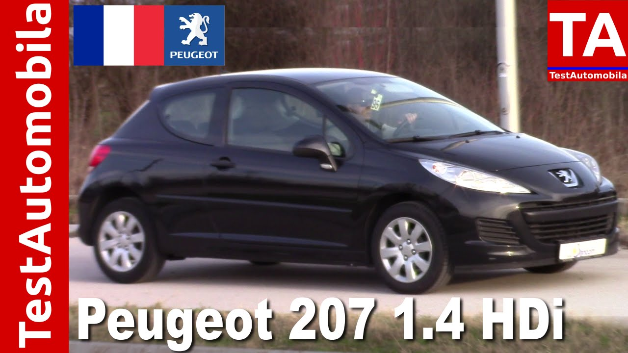 peugeot 207 1 4 hdi 2010 test youtube. Black Bedroom Furniture Sets. Home Design Ideas