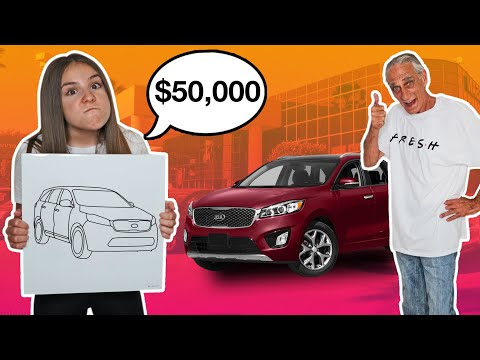 Whatever You DRAW, I'll BUY It Challenge **Buying My Grandpa His DREAM CAR** 🚘 | Piper Rockelle