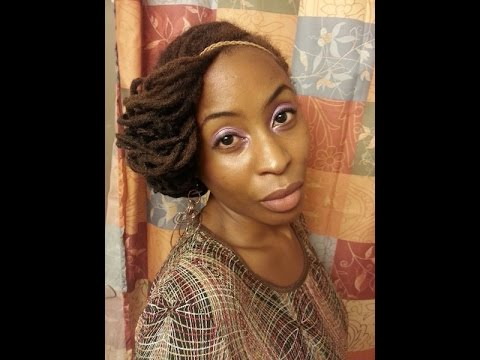 youtube natural hair styles requested loc tutorial flipped and tucked updo no pins 2238 | hqdefault