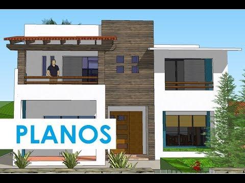 Dise o de casa de dos pisos planos constructivos youtube for Casa de diseno eesuuuuy