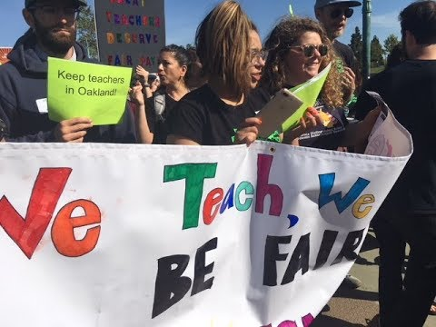 Oakland Education Association OEA Teachers, Students & Parents March For A Contract