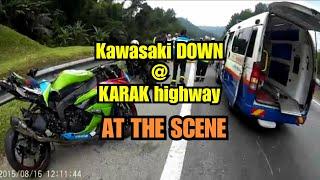 At the scene : KAWASAKI ZX-6R down at KARAK Highway (16 August 2015)