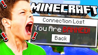 BANNING MY LITTLE SISTER'S BOYFRIEND IN MINECRAFT!