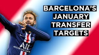 Fc barcelona transfer targets | january 2020