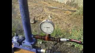 elektriksiz yakıtsız su pompası (su koçu pompası) (hydraulic ram pump)