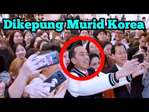 Image of Presiden Jokowi dapat Tepuk Tangan Murid Korea