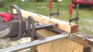 Homemade Chain Mortiser (using Chainsaw)