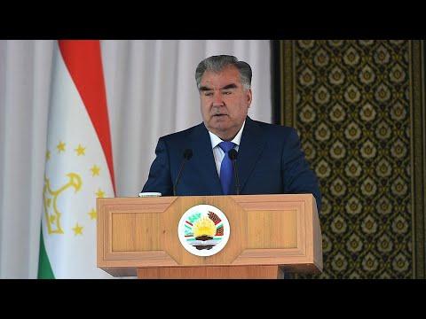 Эмомали Рахмон запустил в эксплуатацию логистический центр в Таджикистане