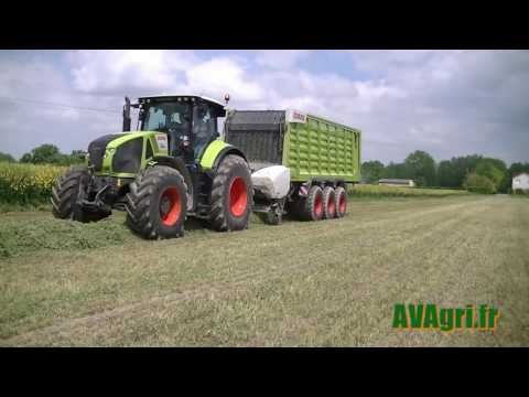 [NEWS 2016] CLAAS Axion 930 et Cargo 9600 à la luzerne