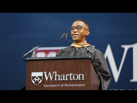 Dante Pearson, Wharton MBA Class of 2017 Student Speaker