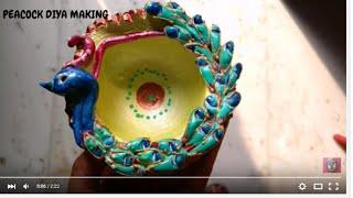 Instant video play diwali floating fancy diya rangoli for Diya decoration youtube