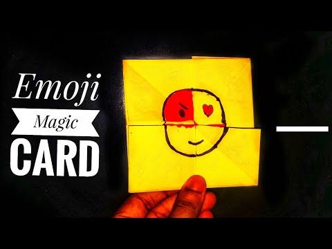 Emoji Diy Paper magic card|Origami Magic Card|Emoji Face changer|Stop Motion Lover