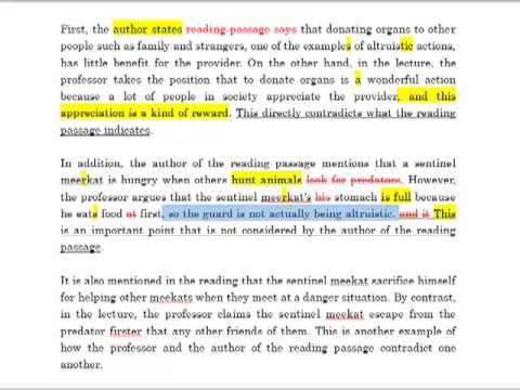 example of toefl integrated essay editing  example of toefl integrated essay editing