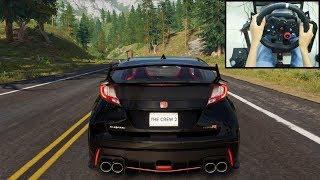 Honda Civic Type R - The Crew 2   Logitech g29 gameplay
