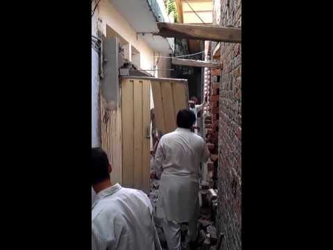 illegal door was smashed by pakistani authority on 14. september 2013