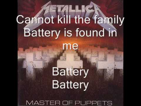 Metallica-Battery with Lyrics