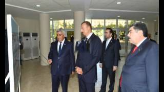 Ilham Aliyev visits new building of comprehensive school No1