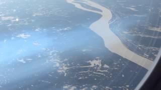 Пролёт Енисея(Рейс 1742 Южно-Сахалинск - Москва, выполняется на А-330-300. Пролёт Енисея на высоте 10972 м., 2014-03-11T17:01:10.000Z)