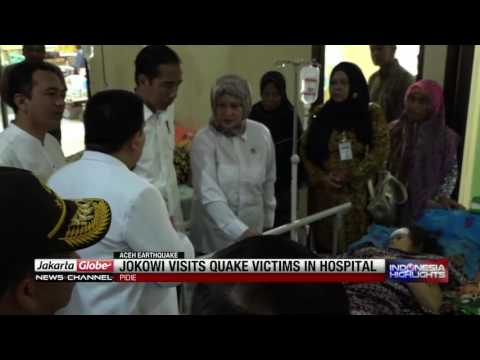 Jokowi Visits Aceh Earthquake Victims