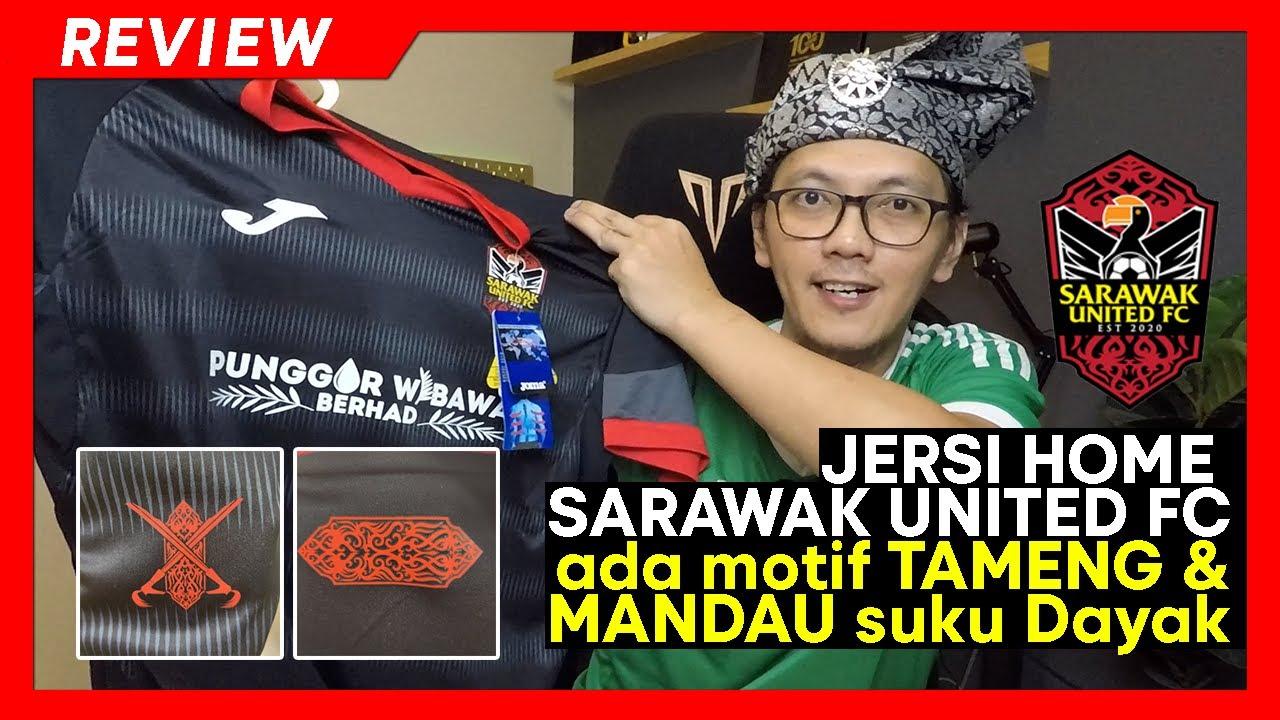 Download REVIEW JERSI Sarawak United FC home 2021   ada motif suku DAYAK