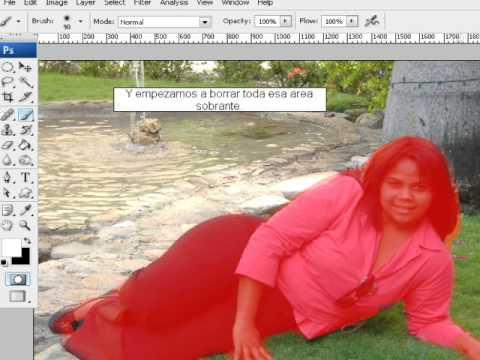 COMO RECORTAR FOTOS Y PEGAR EN OTRA(PHOTOSHOP)   FunnyDog.TV