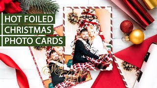 Hot Foiled Holiday Photo Cards