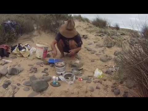 Beach Fishing - Yellow Eye Mullet, South Coast, South Australia.