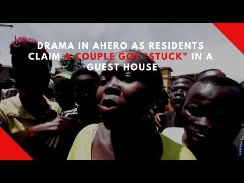 """Drama in Ahero as residents claim a couple got """"stuck"""" during sex in a guest house thumbnail"""
