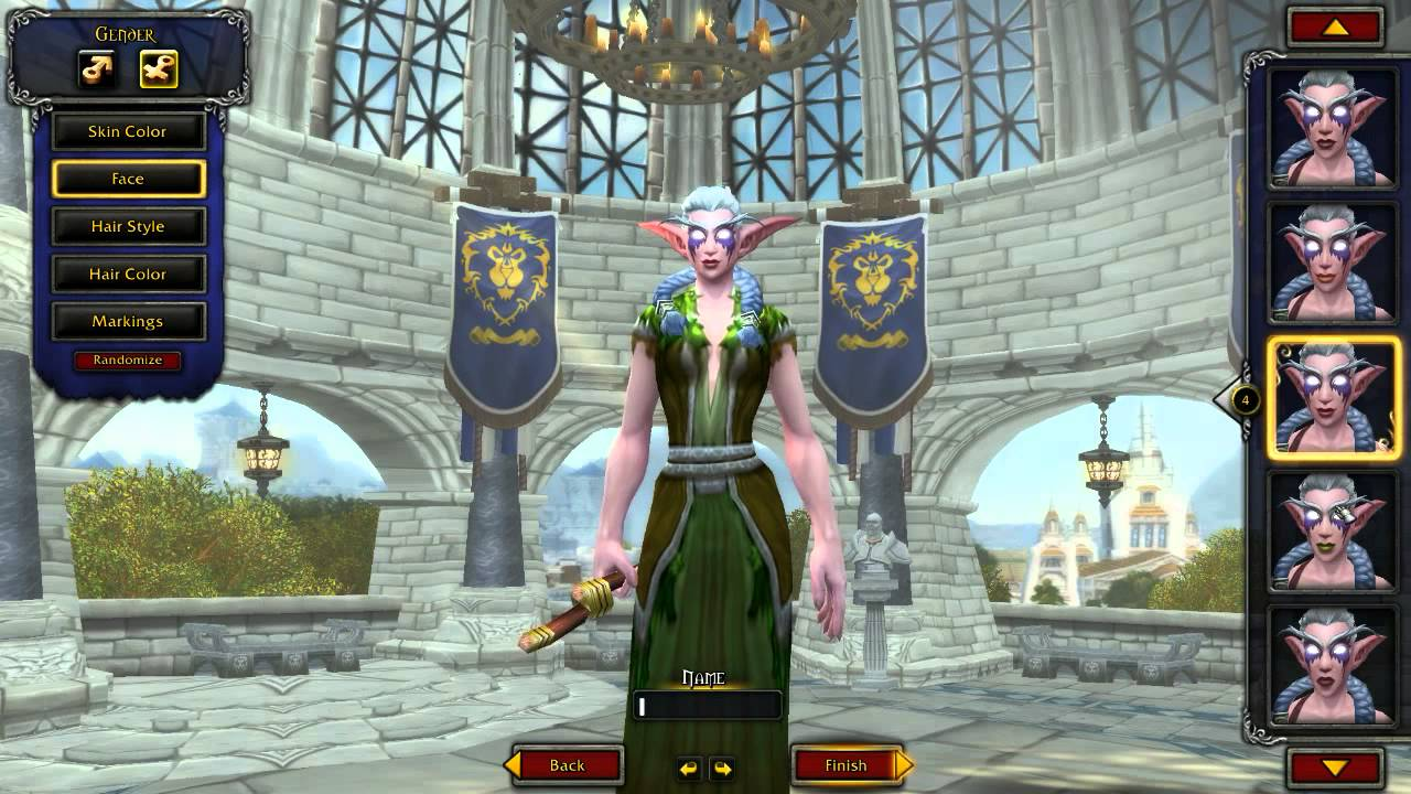 Creating An Alliance Night Elf Druid World Of Warcraft Youtube