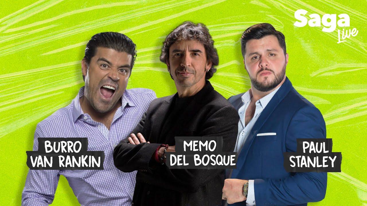 Download #SagaLive Memo del Bosque, Burro Van Rankin y Paul Stanley con Adela Micha