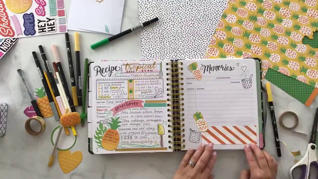 Crafting And Scrapbooking The Keepsake Kitchen Diary With Amy