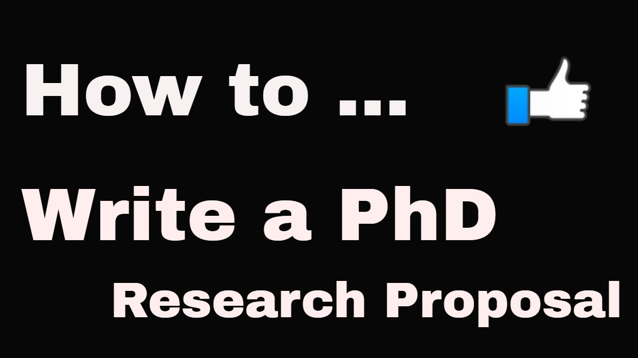 How to write a phd proposal in