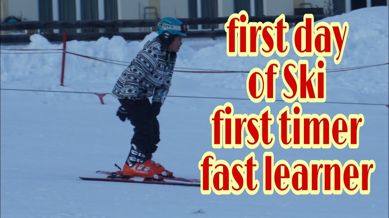 what were the first skis made of