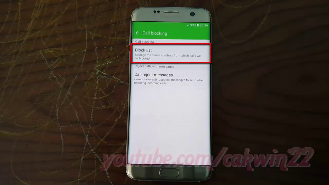 Samsung Galaxy S7 Edge : How To Block Numbers (android Marshmallow)