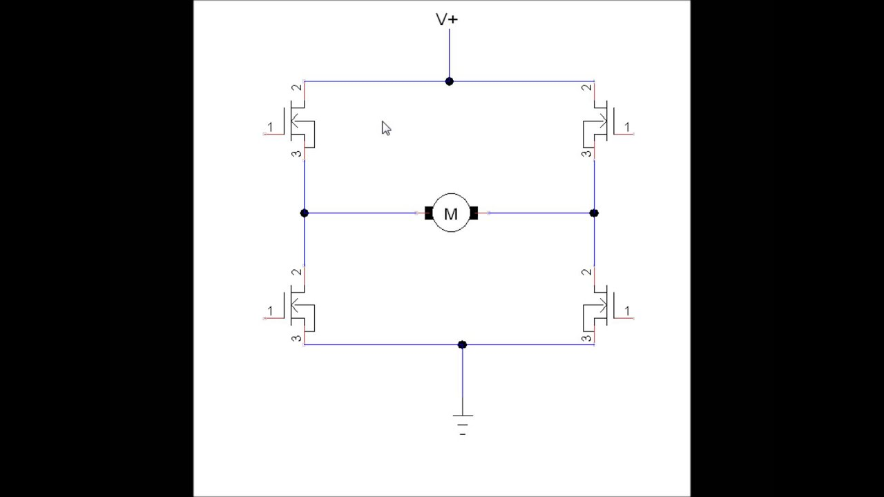 hight resolution of simplified mosfet h bridge theory