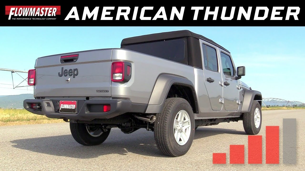 2020 jeep gladiator 3 6l american thunder cat back exhaust system 817913