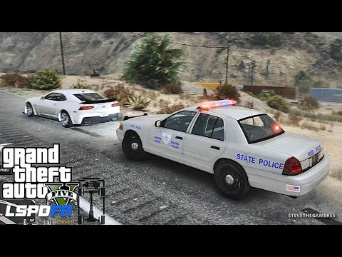 GTA 5 LSPDFR 0.3.1 - EPiSODE 324  - RHODE ISLAND PATROL (GTA 5 PC REAL LIFE POLICE MOD)