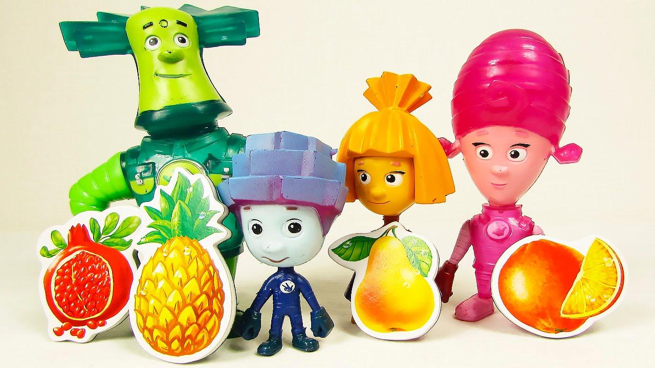 Учим фрукты и ягоды Фиксики Симка и Нолик - YouTube