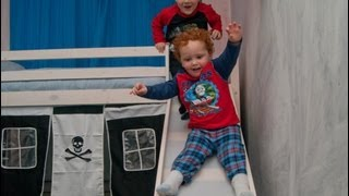 Pirate Bed With Slide!