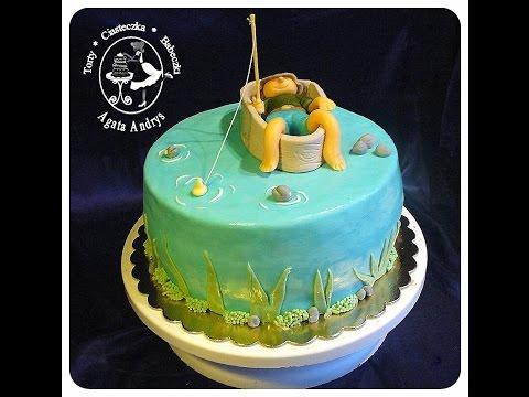 Tort Z WĘDKARZEM Rybakiem / Cake With ANGLER Fisherman