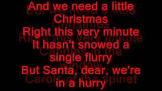 Glee Cast - We Need a Little Christmas Lyrics on screen