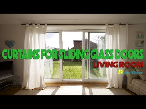 [Daily Decor] Curtains for Sliding Glass Doors in Living Roo