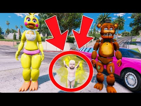 Thumbnail: FREDDY & CHICA HAVE A BABY! (GTA 5 Mods For Kids FNAF Funny Moments)