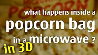 what happens inside a popcorn bag in a microwave