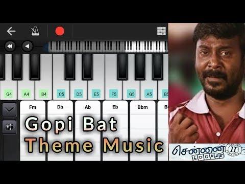 Gopi Bat Theme Music Remix | Notes & Chords | Chennai 28 2 | Yuvan Shankar Raja | Piano