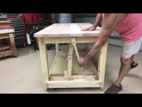 workbench-retractable-wheels/casters-...no-talk-just-action